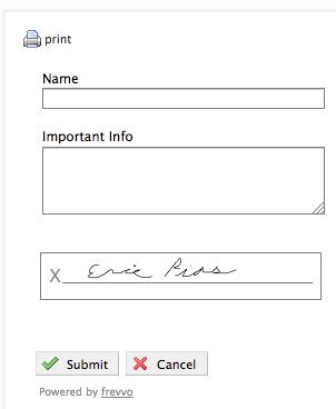 Signed Form