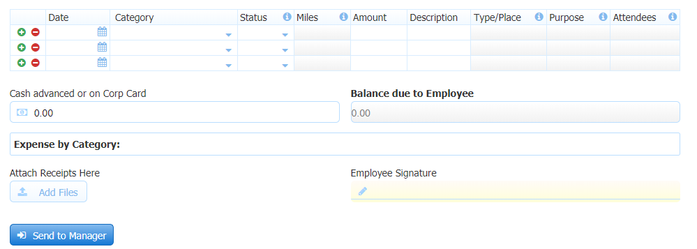 Customize the Pre-Built Expense Report Form to Meet Your Needs