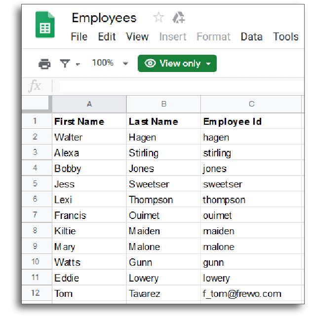 Create dynamic picklists using Google sheets