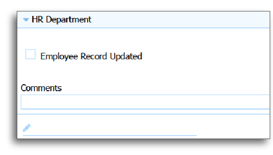 HR Department Updates Employee Record