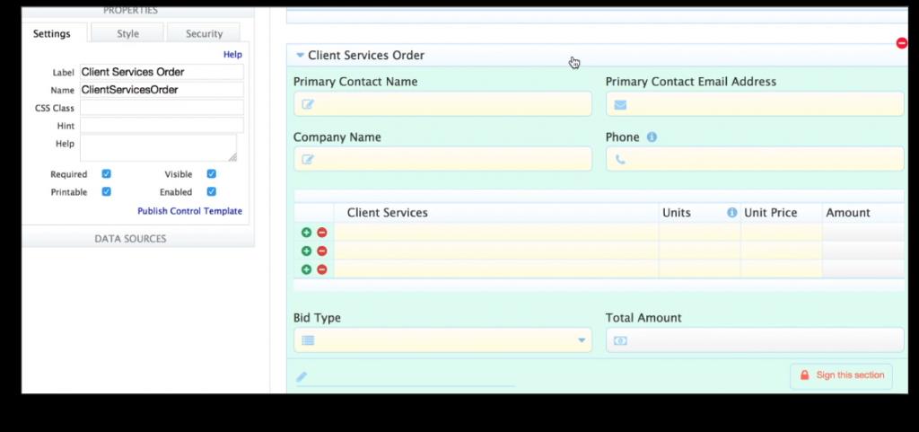 Services Order Workflow