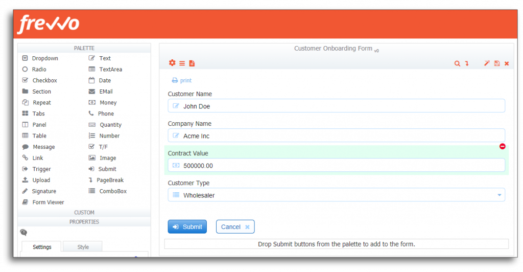 Create a Form to Initiate the Onboarding Process
