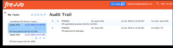 workflow audit trail