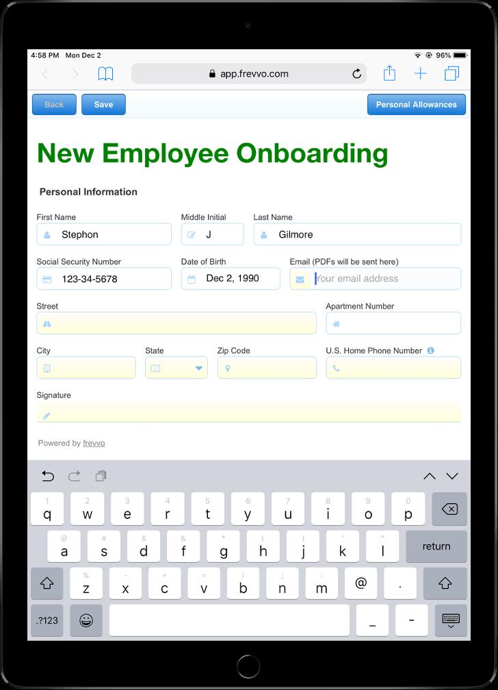 customizable employee onboarding template