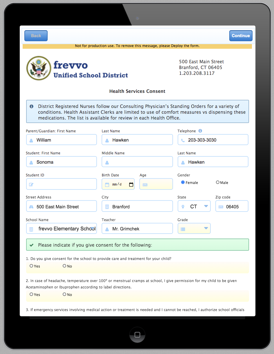 Mobile-friendly online forms