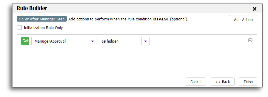 Hiding the Manager approval section on a dynamic form