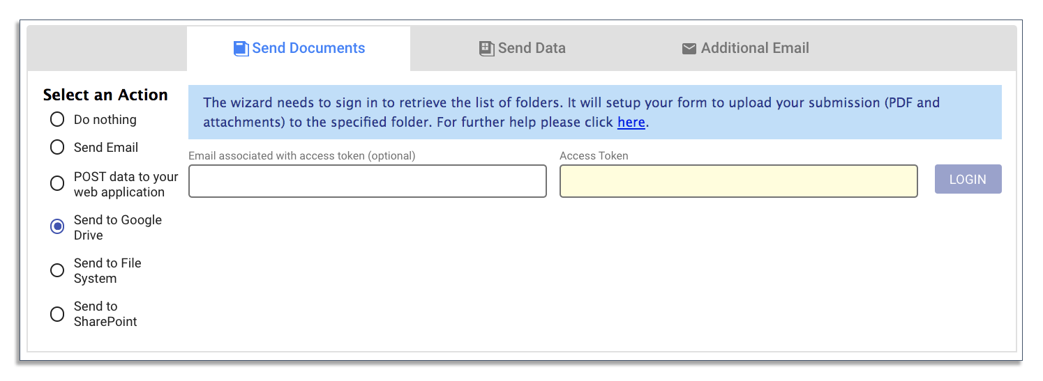 Routing onboarding forms to Google Drive