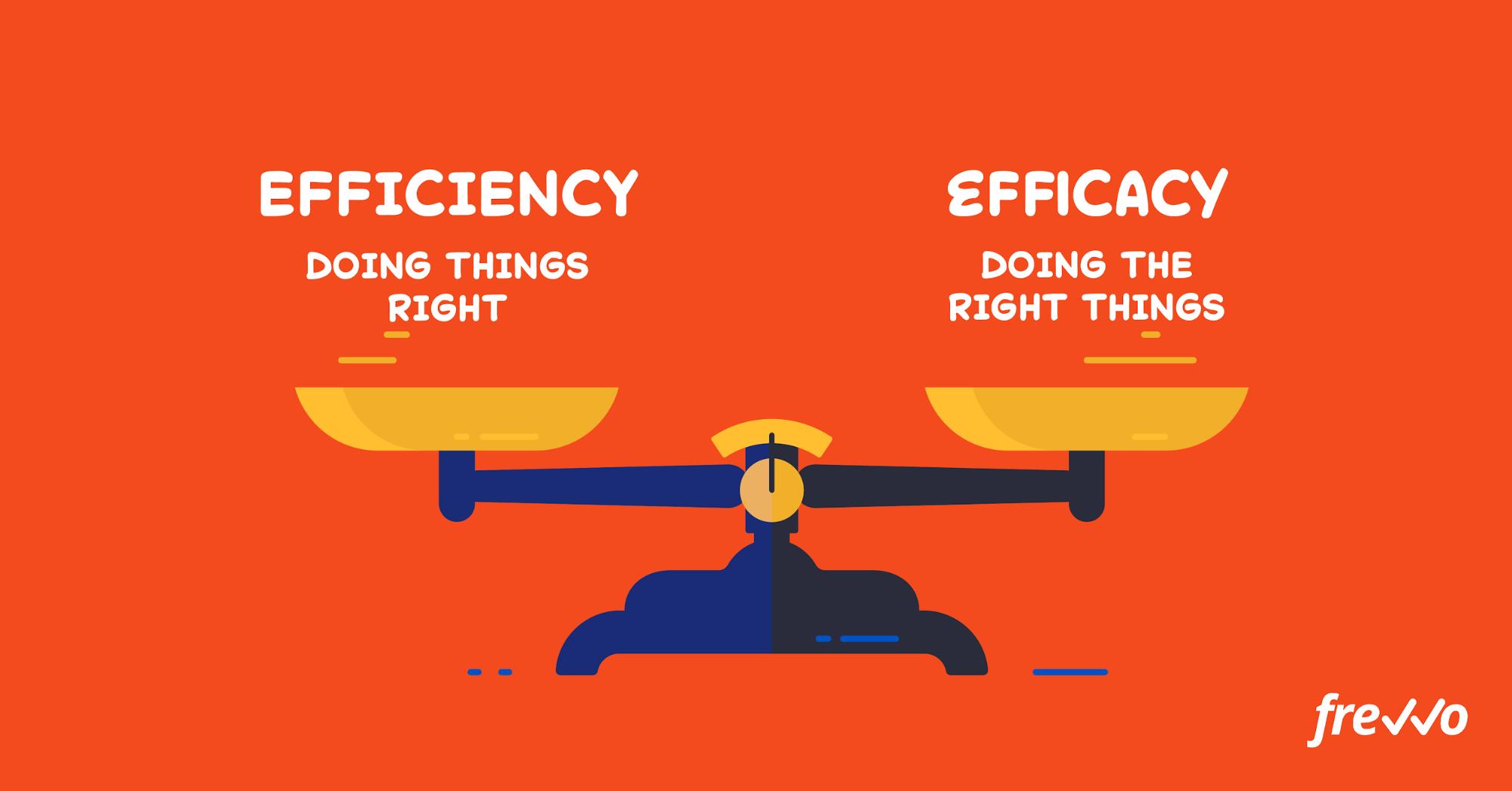 efficiency vs efficacy