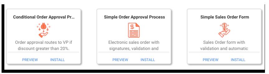 sales order workflow templates on frevvo