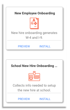 employee onboarding templates on frevvo