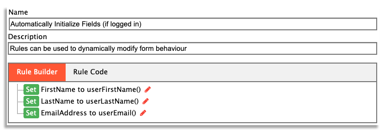 Business rules to auto-populate forms on frevvo