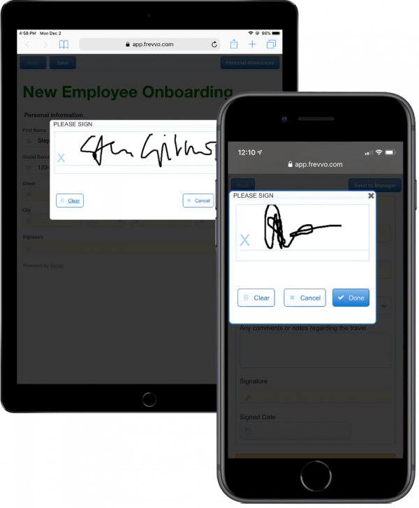 Electronic Signature on mobile