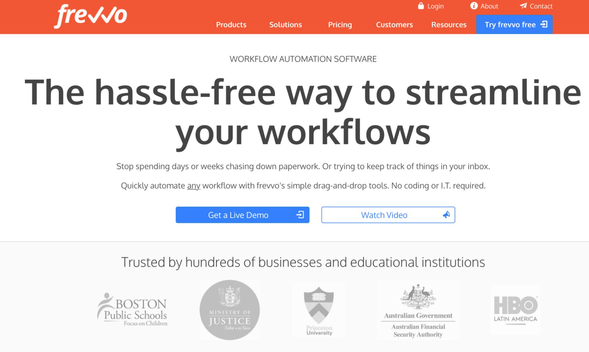 frevvo homepage