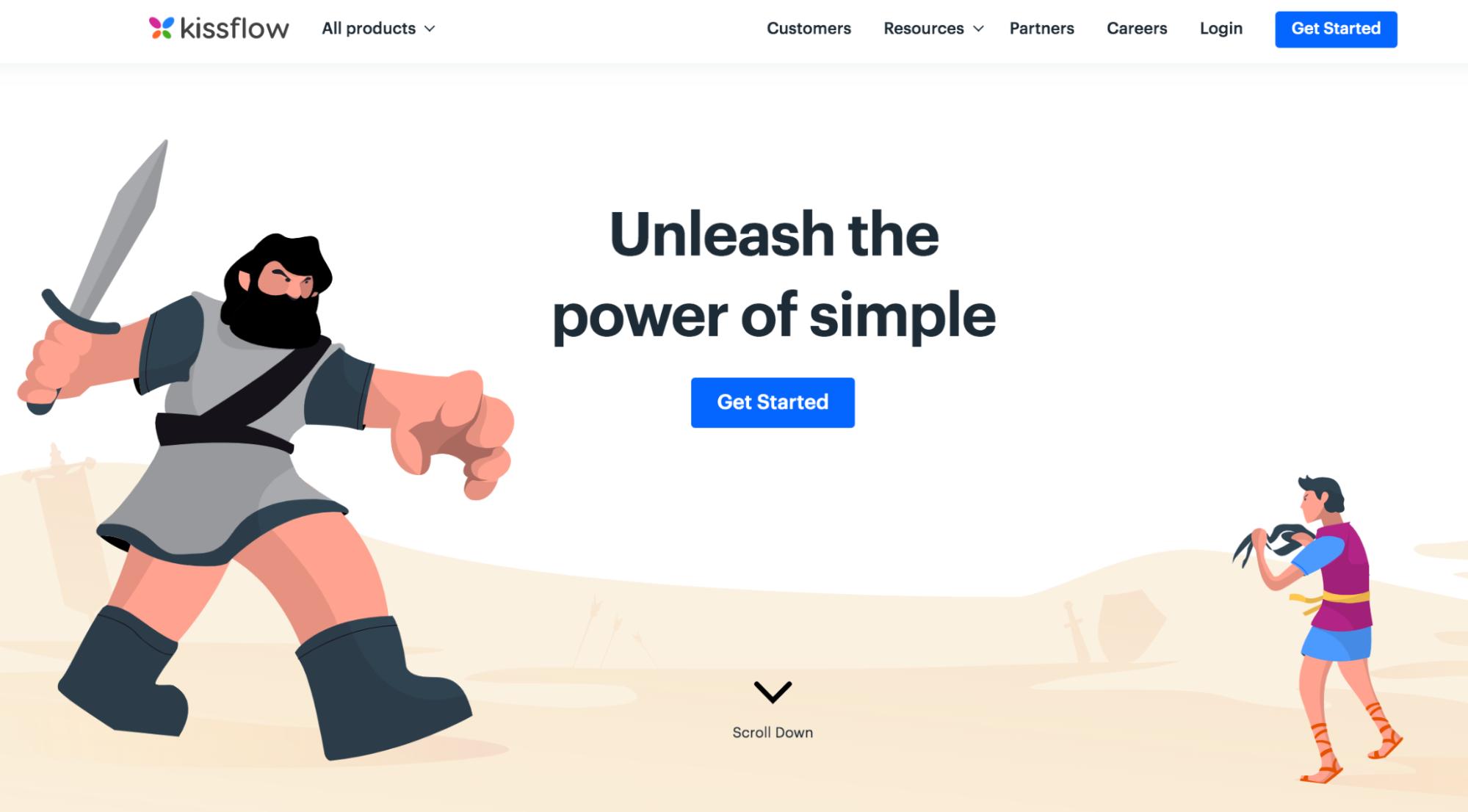 Kissflow homepage