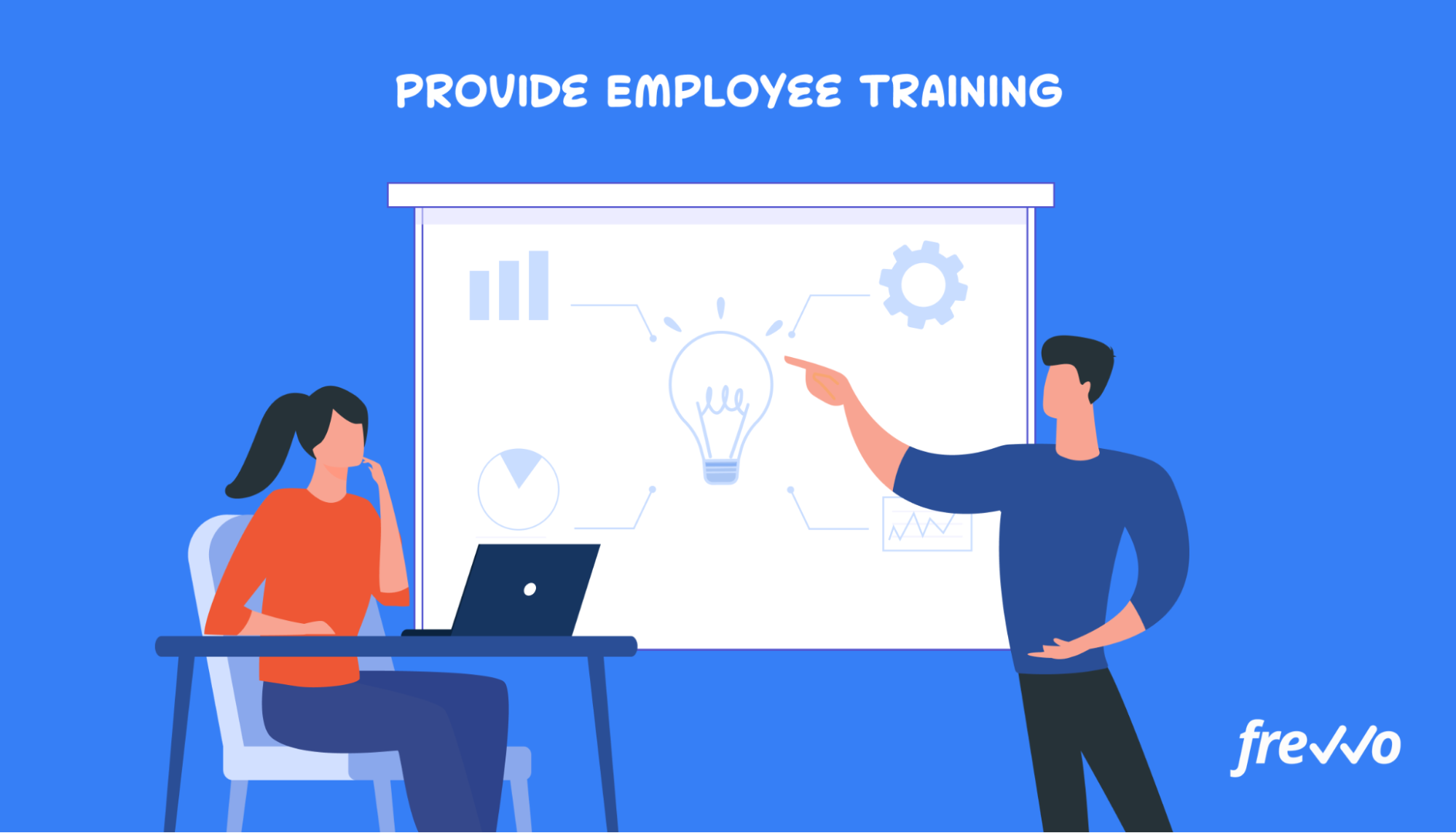 Employee receiving training on new workflows