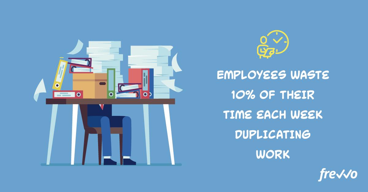 Employees waste time duplicating work