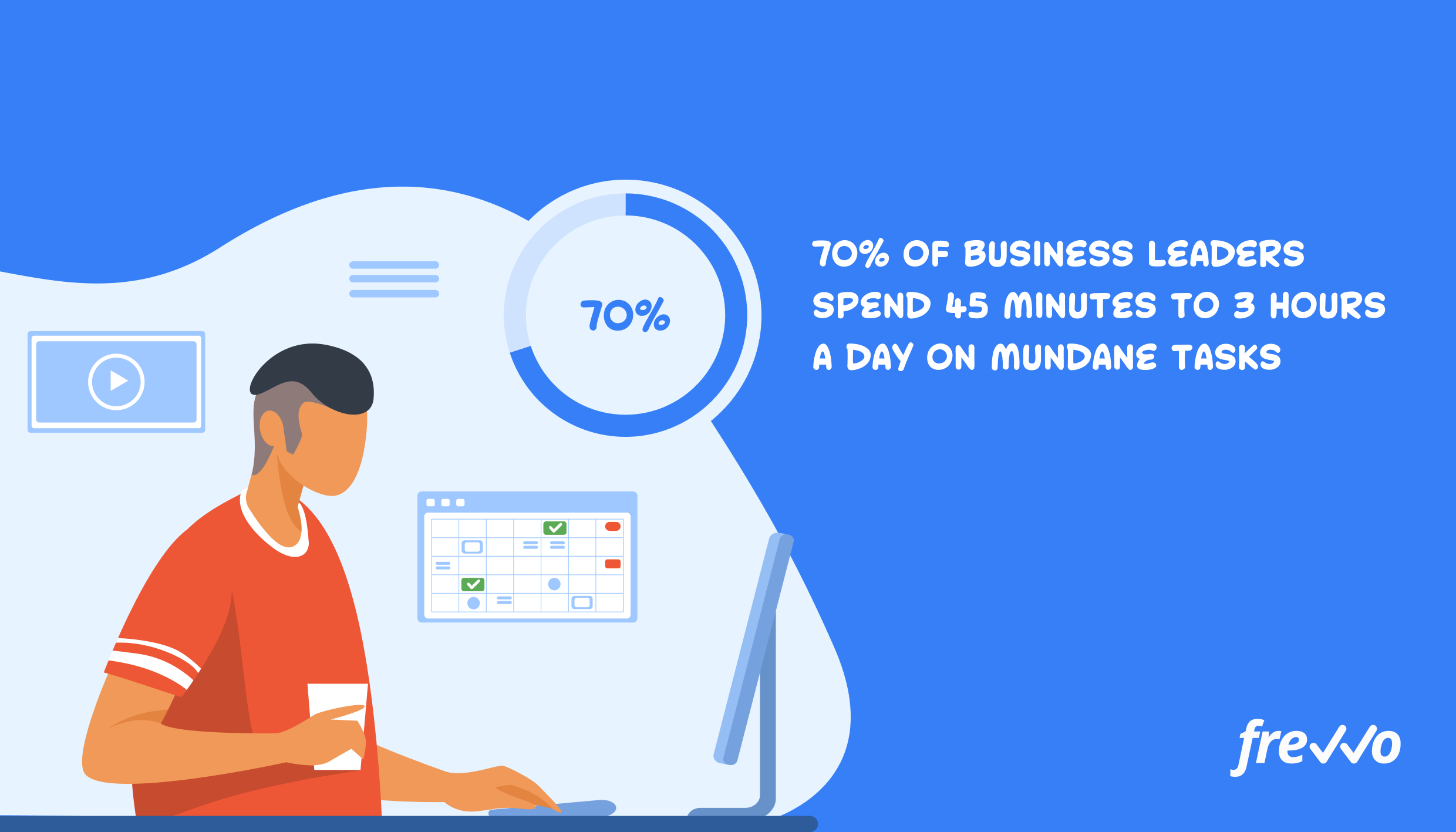 How much time business leaders spend on repetitive tasks