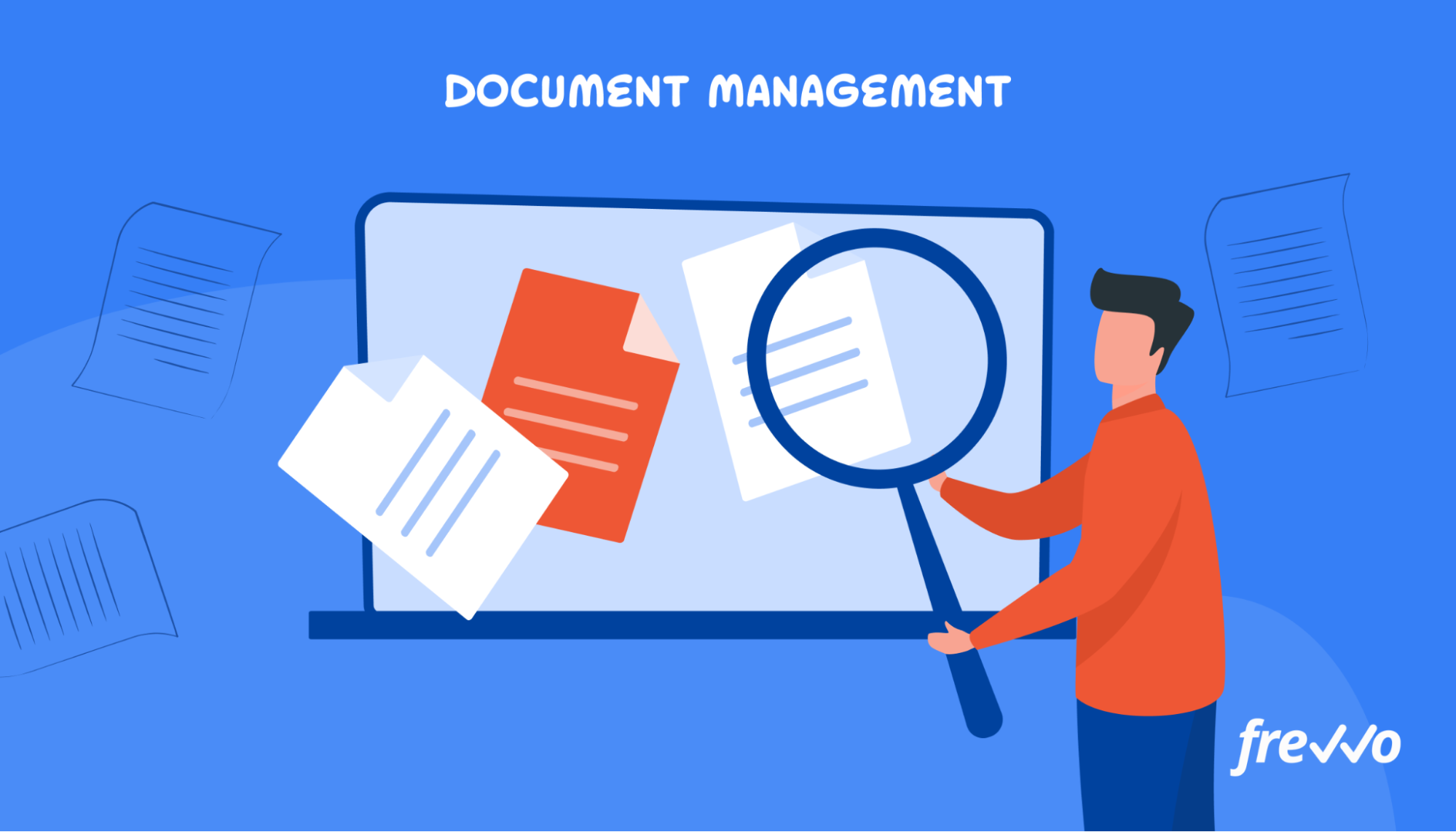 Managing files with a document management app