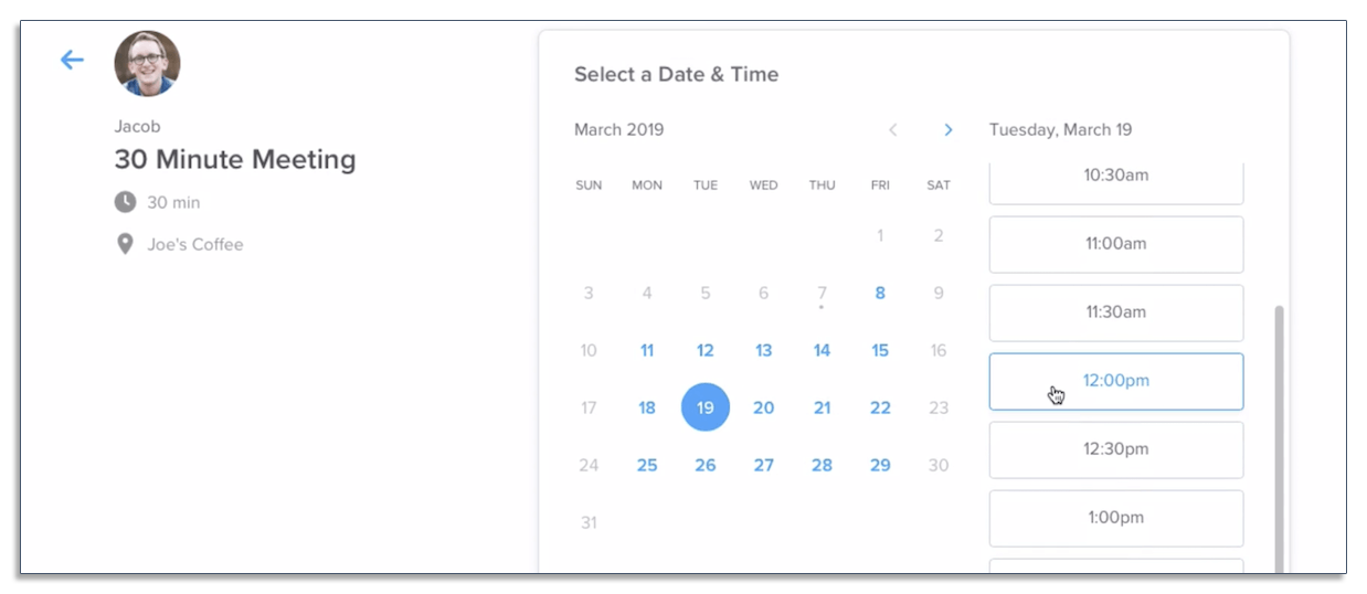 Schedule meetings with Calendly
