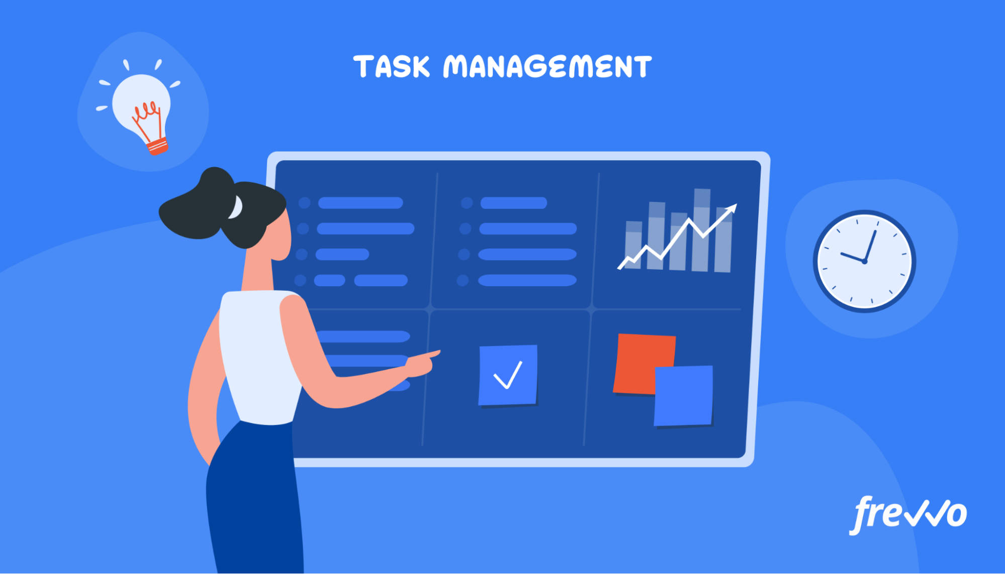 Managing work with a task management app