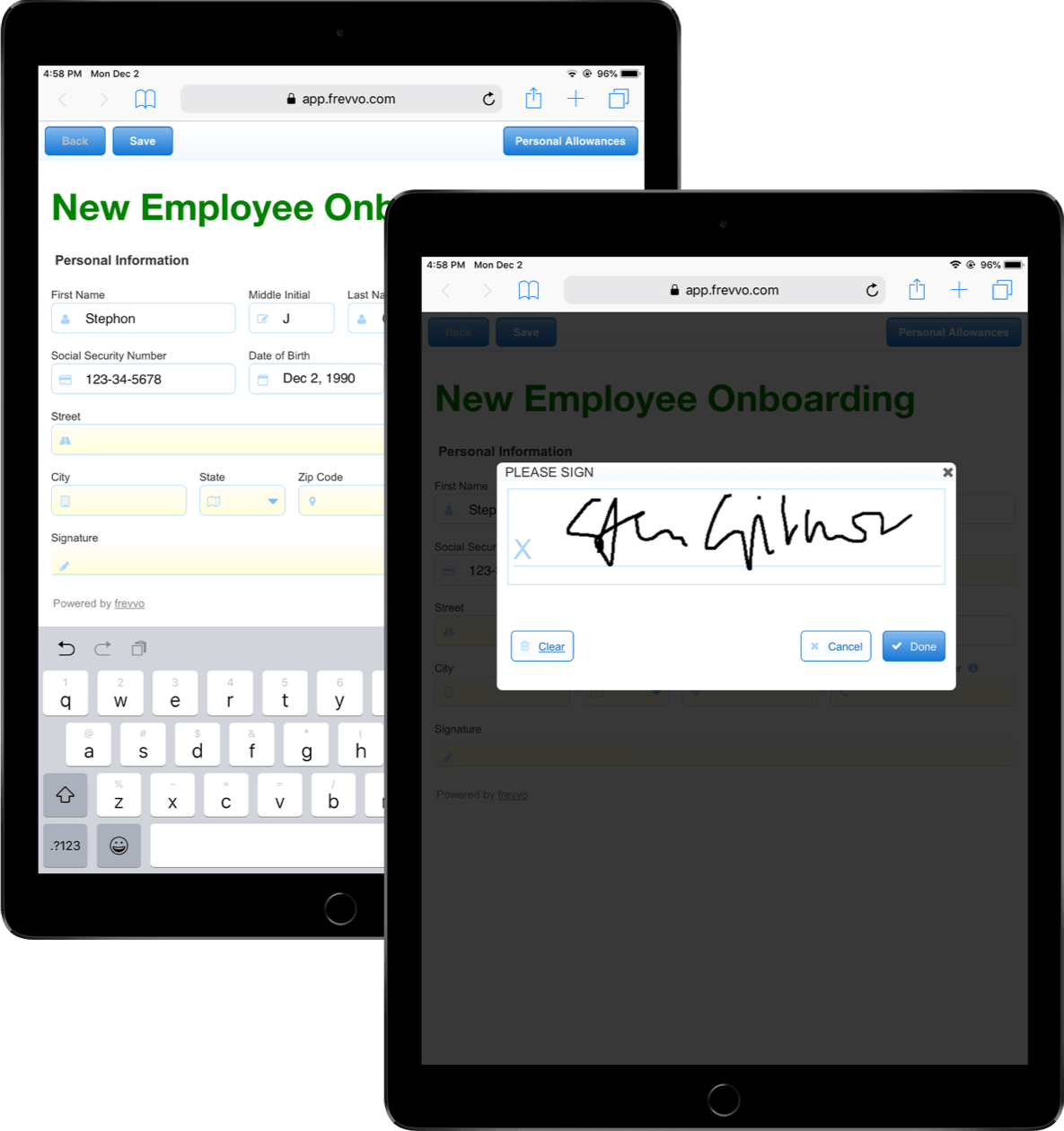 Digital signatures on all devices