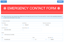 free emergency contact form templates frevvo